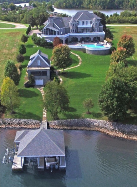 15 000 Square Foot Waterfront Stone Mansion In Vonore Tn