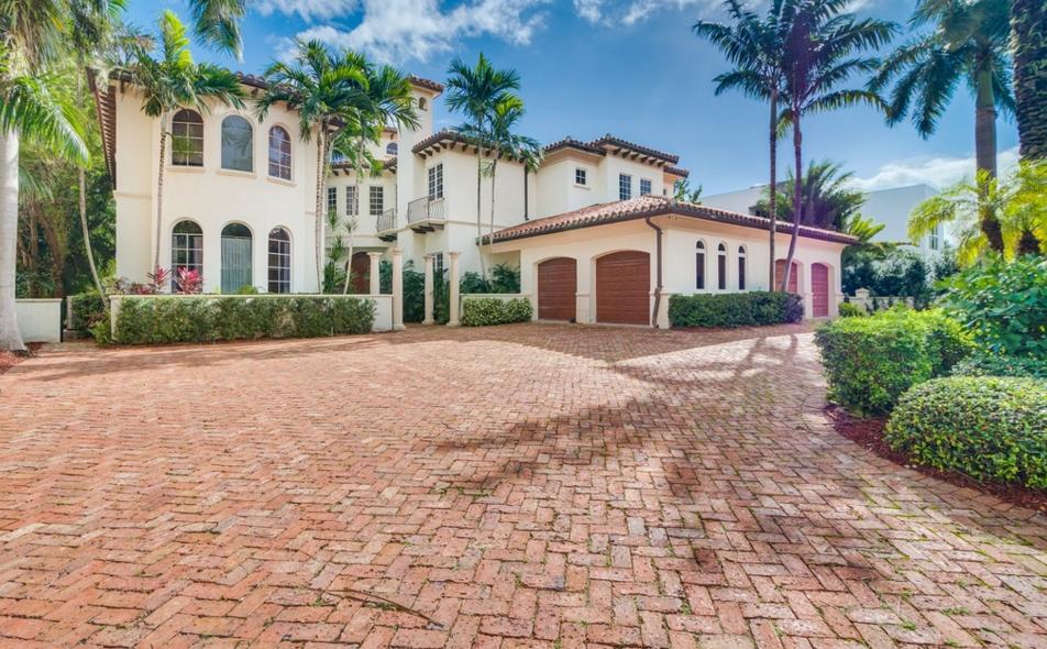 $6.25 Million Mediterranean Waterfront Home In Golden Beach, FL