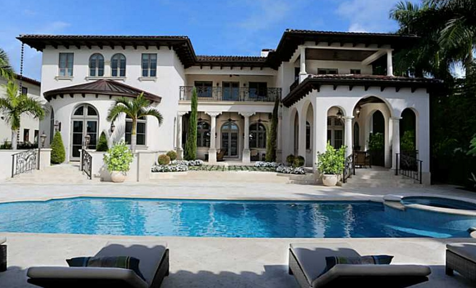 Million newly built waterfront mansion in miami for Miami mansion floor plans