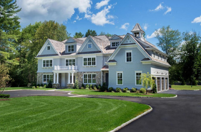 11,000 Square Foot Newly Built Colonial Mansion In New Canaan, CT