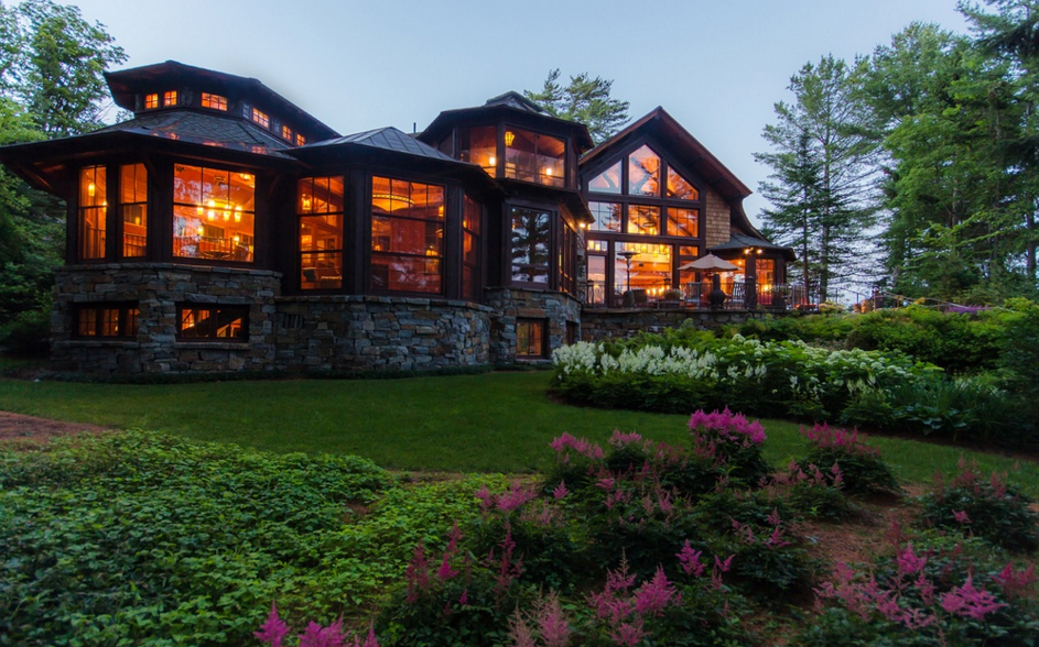 11,000 Square Foot Lakefront Mansion In Lake Placid, NY ...