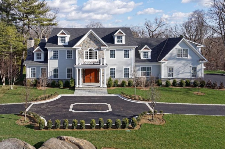 $3.495 Million Newly Built Colonial Mansion In Harrison, NY
