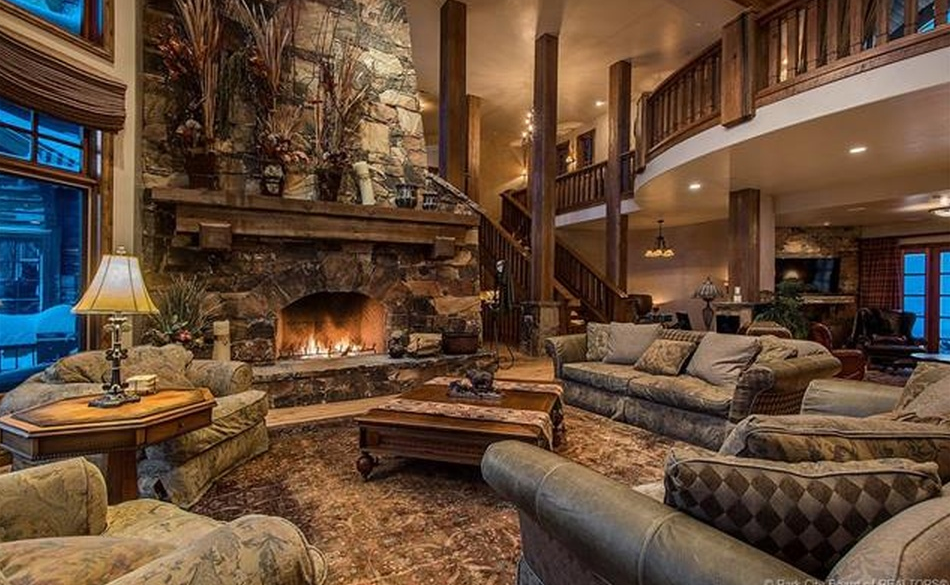 94 Million Wood Stone Mountaintop Mansion In Park City UT