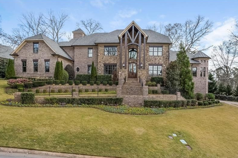 14,000 Square Foot Brick Country Club Mansion In Marietta, GA