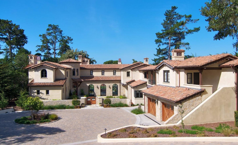 13 75 Million Mediterranean Mansion In Pebble Beach Ca Homes Of The Rich