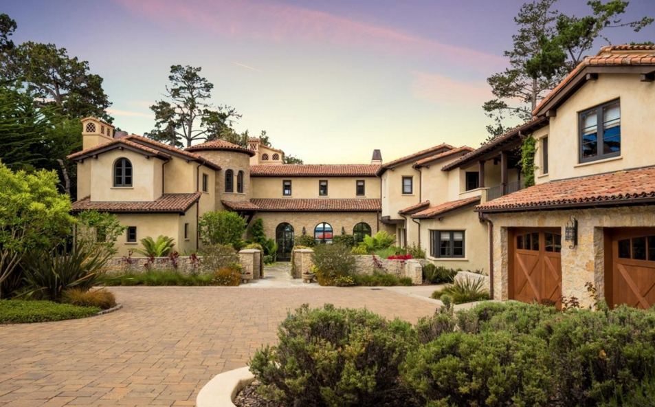 Million mediterranean mansion in pebble beach ca for 17 mile drive celebrity homes