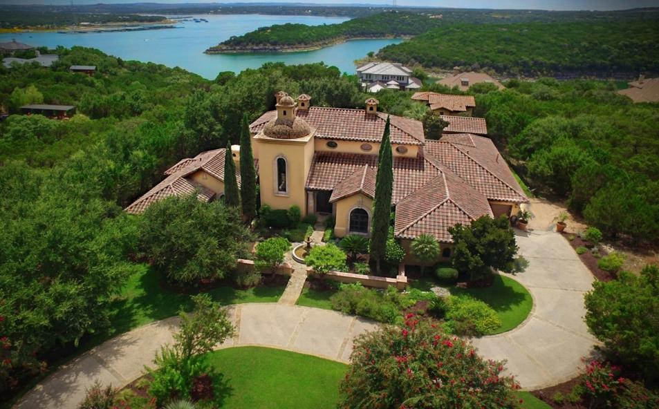 Casa Las Nuves – A $2.3 Million Spanish Style Mansion In Lago Vista, TX