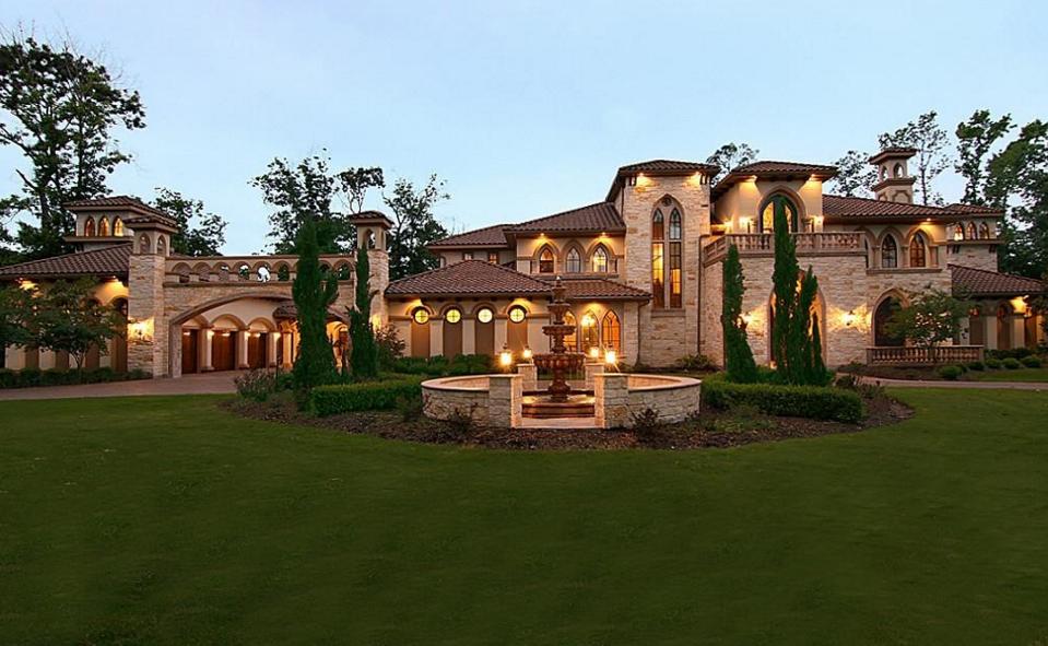 10,000 Square Foot Mediterranean Mansion In Spring, TX