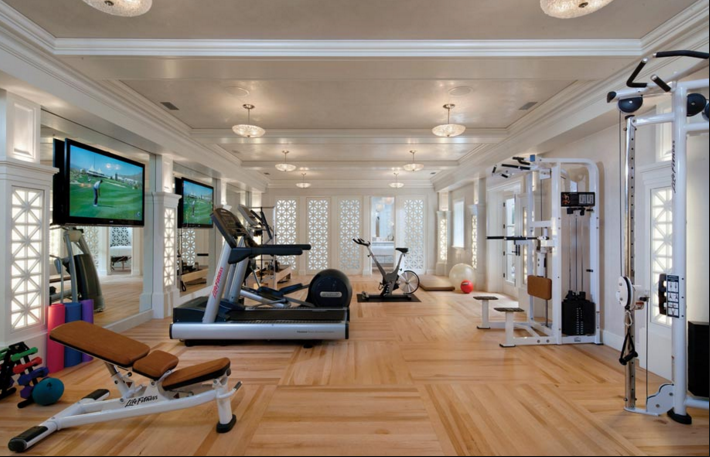 A look at luxury home gyms homes of the rich