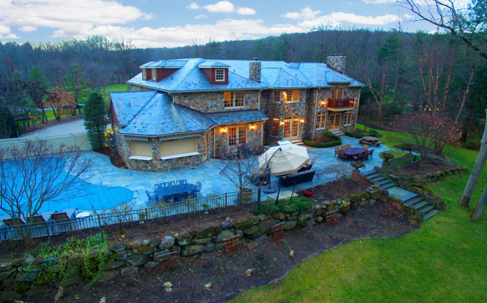 $3.85 Million Stone Mansion In Rockleigh, NJ