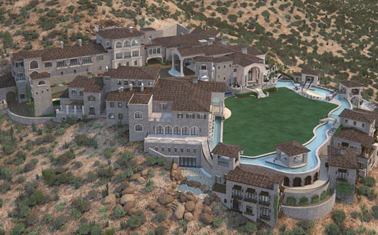 100 000 square foot unfinished scottsdale az mega mansion for 100000 dollar house