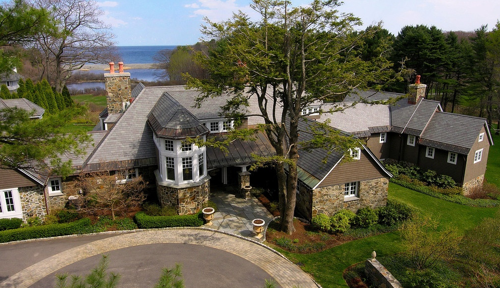 12,000 Square Foot Stone & Shingle Mansion In York, ME