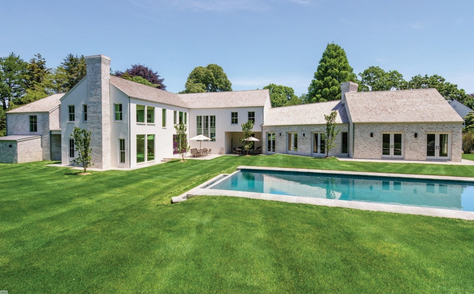 $8.95 Million Brick & Stucco Home In Water Mill, NY