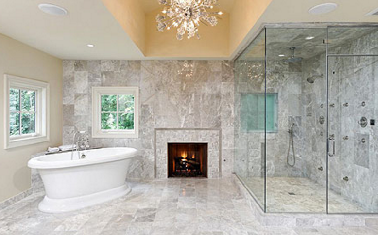 16 ultra luxurious bathrooms with fireplaces | homes of the rich Bathrooms 2016