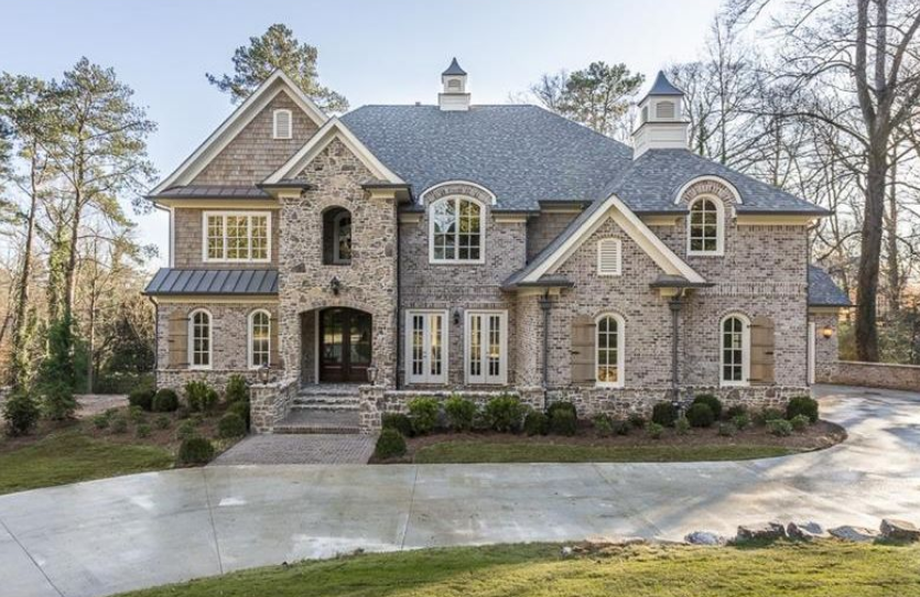 2 6 million newly built brick stone mansion in atlanta for House builders in ga