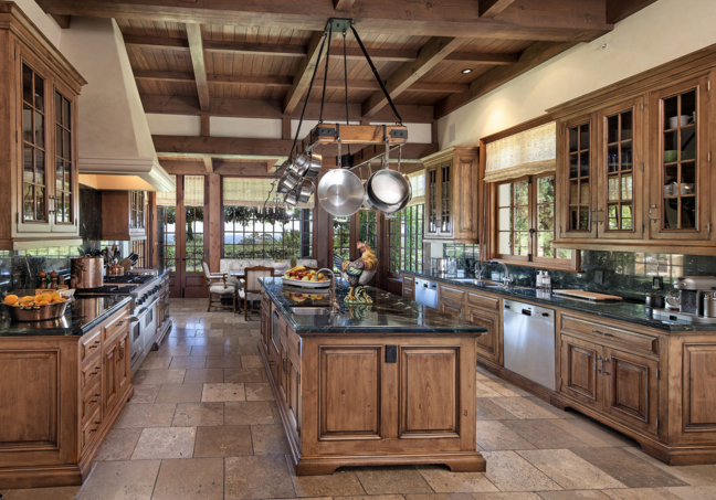16 rustic gourmet kitchens homes of the rich Gourmet kitchen plans
