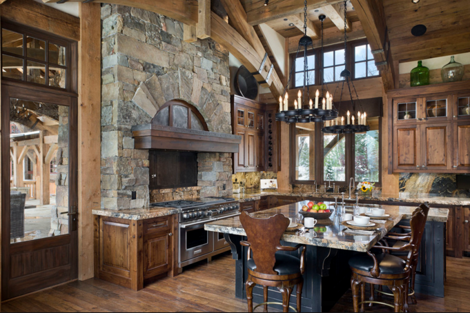 16 Rustic Gourmet Kitchens | Homes of the Rich