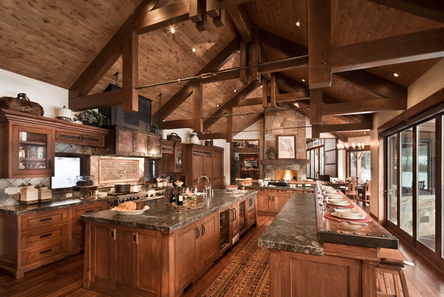 16 Rustic Gourmet Kitchens Homes Of The Rich