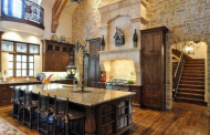 16 Rustic Gourmet Kitchens