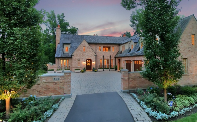 $3.65 Million Brick Home In Lake Forest, IL