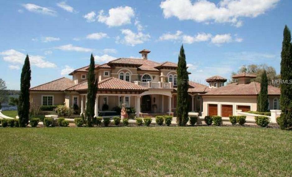 3 5 million mediterranean lakefront mansion in