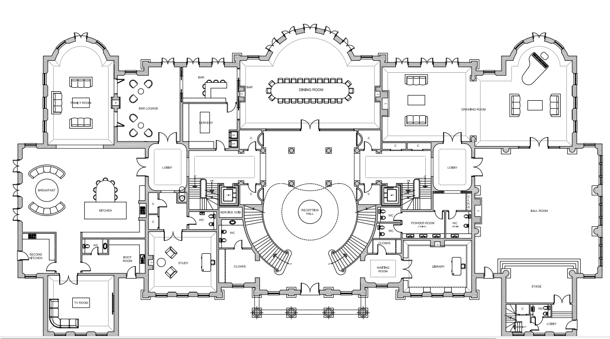 large mansion floor plans 56 000 square foot proposed mega mansion in berkshire england homes of the rich 4182
