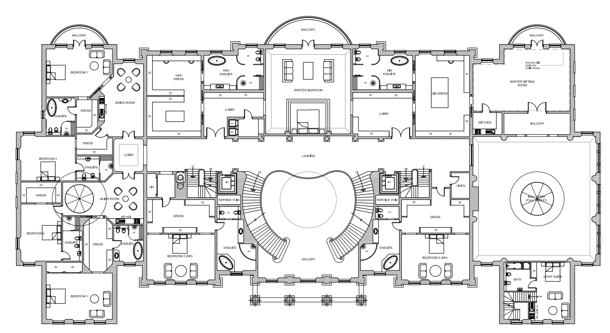 56 000 square foot proposed mega mansion in berkshire for Mega mansion floor plans