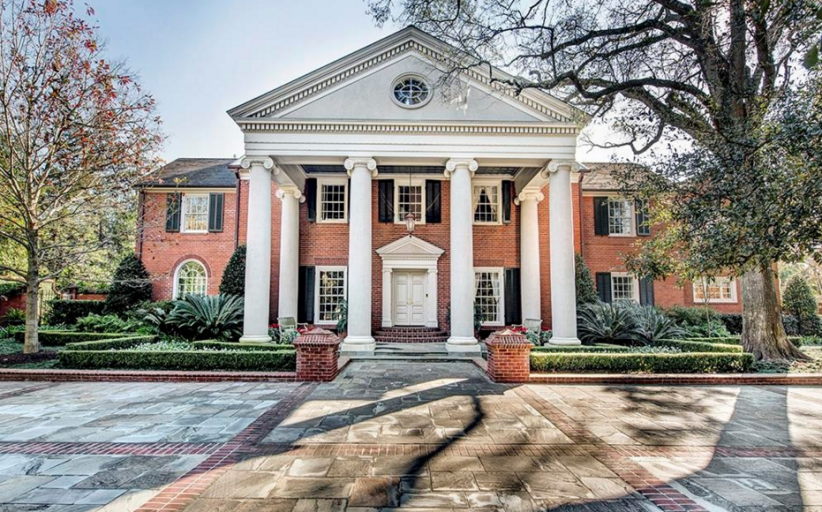 $12.8 Million Brick Georgian Mansion In Houston, TX