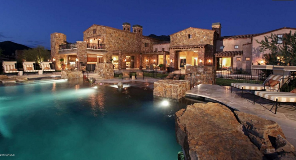 20 000 square foot mega mansion in scottsdale az re for Mansions for sale in scottsdale az