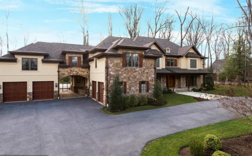 12,000 Square Foot Stone & Stucco Mansion In Rockville, MD