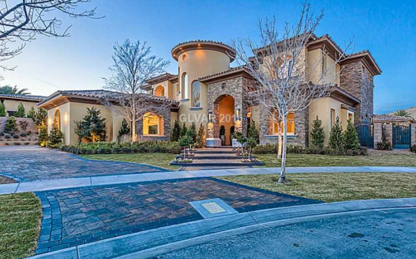$3.5 Million Newly Built Stone & Stucco Mansion In Las Vegas, NV
