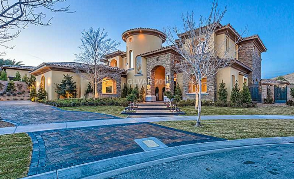 3 5 Million Newly Built Stone Amp Stucco Mansion In Las