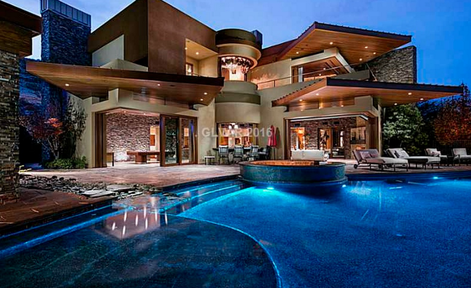 14 000 square foot contemporary mansion in las vegas nv for Most expensive homes in las vegas
