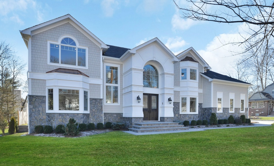 $2.4 Million Newly Built Stone & Shingle Home In Tenafly, NJ