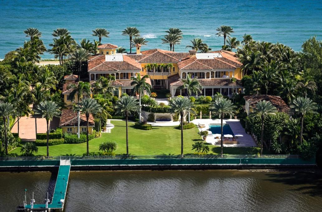$75 Million Mediterranean Waterfront Mansion In Palm Beach, FL