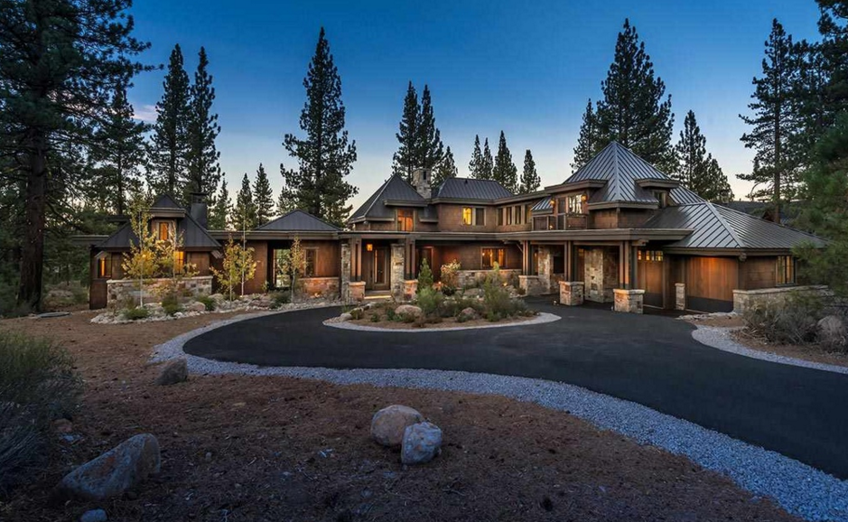 $4.995 Million Newly Built Wood & Stone Home In Truckee, CA