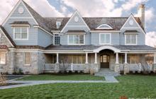 $3.149 Million Newly Built Stone & Shingle Mansion In Winnetka, IL