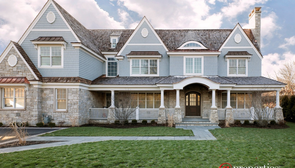 $3.149 Million Newly Built Stone & Shingle Mansion In Winnetka, IL