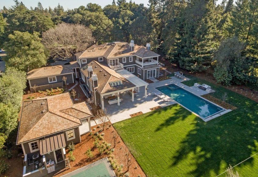 $17.8 Million Newly Built Craftsman Shingle Mansion In Atherton, CA