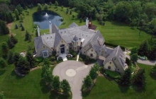 14,000 Square Foot French Normandy Mansion In Oakland Township, MI