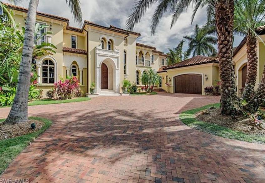 $10.5 Million Mediterranean Waterfront Home In Naples, FL