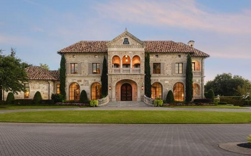 $13.75 Million Mediterranean Stone Mansion In Dallas, TX