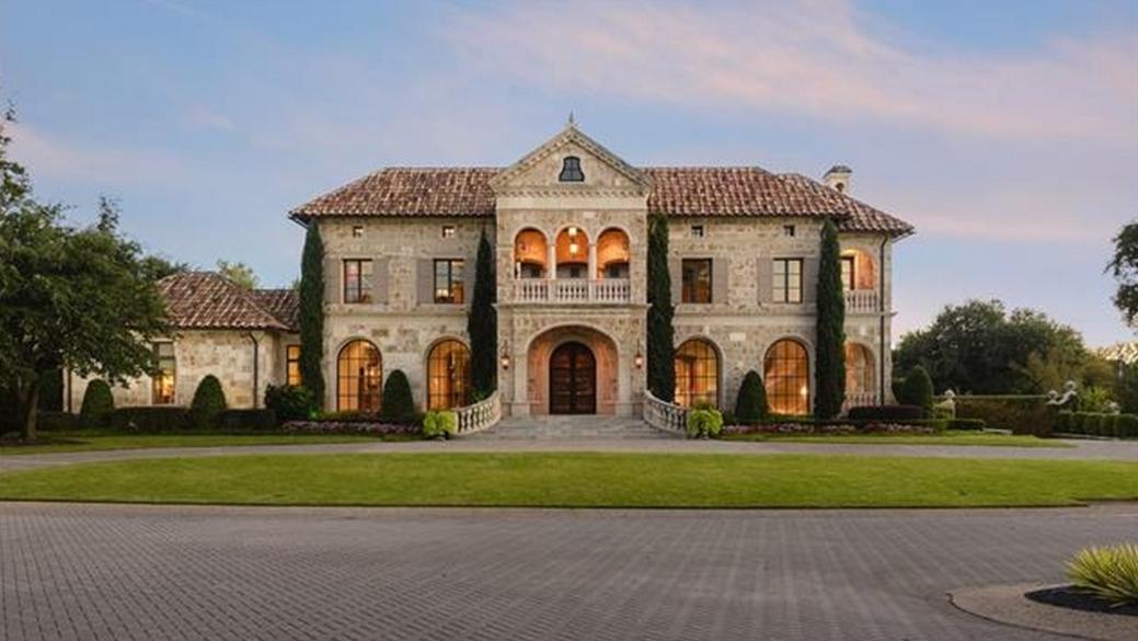 $13.75 Million Mediterranean Stone Mansion In Dallas, TX