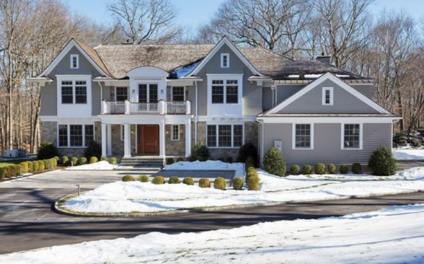 $6.995 Million Newly Built Colonial Mansion In Greenwich, CT