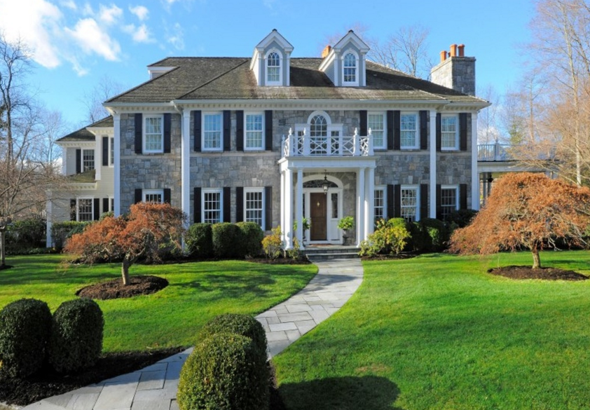 Georgian Colonial Mansion $6.5 million georgian colonial mansion in greenwich, ct | homes of