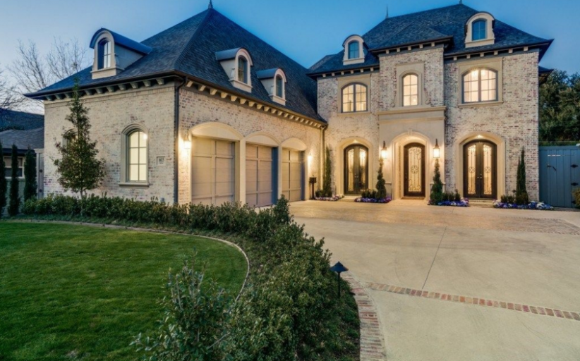 Newly Built French Inspired Brick Home In Dallas, TX