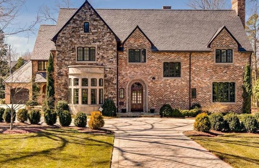$3.25 Million Brick & Stone Mansion In Charlotte, NC