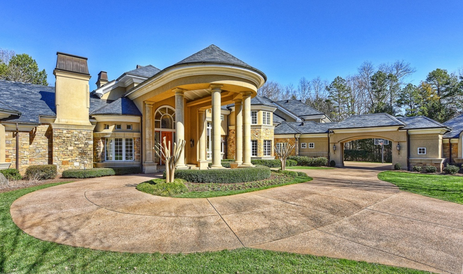 11,000 Square Foot Stone & Stucco Mansion In Charlotte, NC