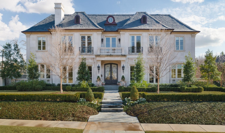 $9.75 Million French Inspired Stone Mansion In Dallas, TX