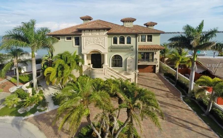 $3.3 Million Mediterranean Waterfront Home In St Pete Beach, FL